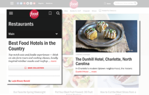 "Food Network Names The Dunhill Among ""Best Food Hotels in the Country"""