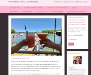 Heidi Billotto's article, cocktails with a view